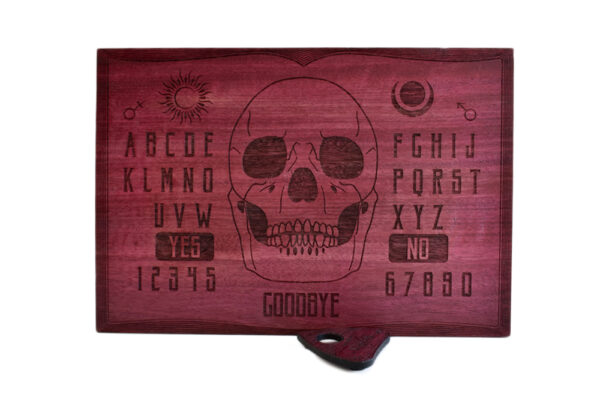 Beatus Lignum Skull Purple Ouija Board