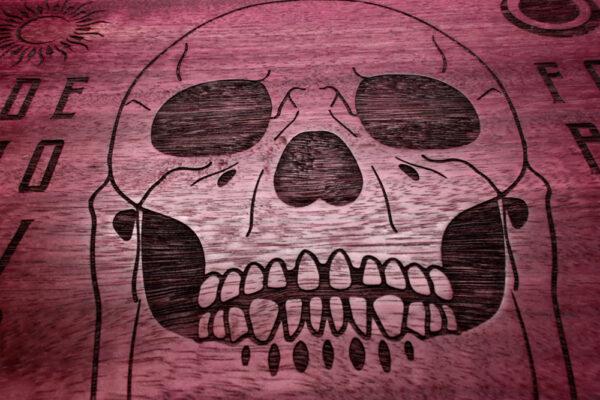 Beatus Lignum Purple Skull Ouija Board